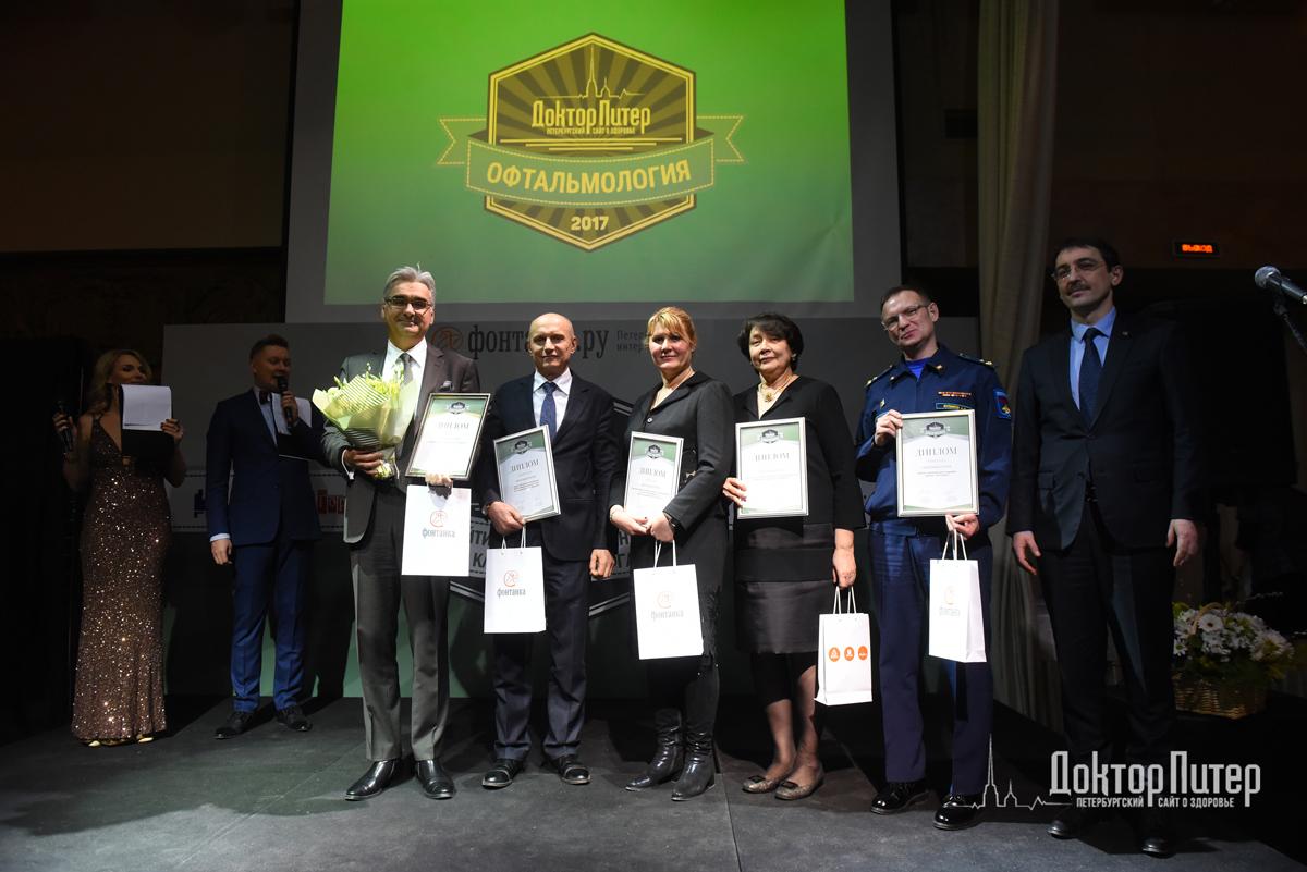 Дипломанты рейтинга «Доктор.Питер» в номинации «Офтальмология»