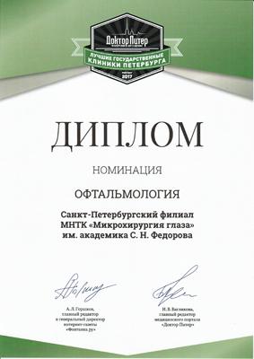 Санкт-Петербургский филиал ФГАУ МНТК «Микрохирургия глаза»